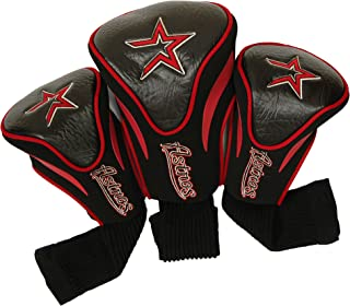 Team Golf MLB Contour Golf Club Headcovers (3 Count), Numbered 1, 3, & X, Fits Oversized Drivers, Utility, Rescue & Fairway Clubs, Velour lined for Extra Club Protection