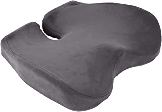 Mind Reader Orthopedic Seat Cushion, Memory Foam Chair Comfort Padding, Ergonomic Tailbone Relief, Alleviate Back Pain and...