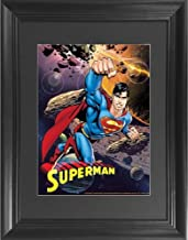 Superman 3D Poster Wall Art Decor Framed Print | 14.5x18.5 | Lenticular Posters & Pictures | Memorabilia Gifts for Guys & ...
