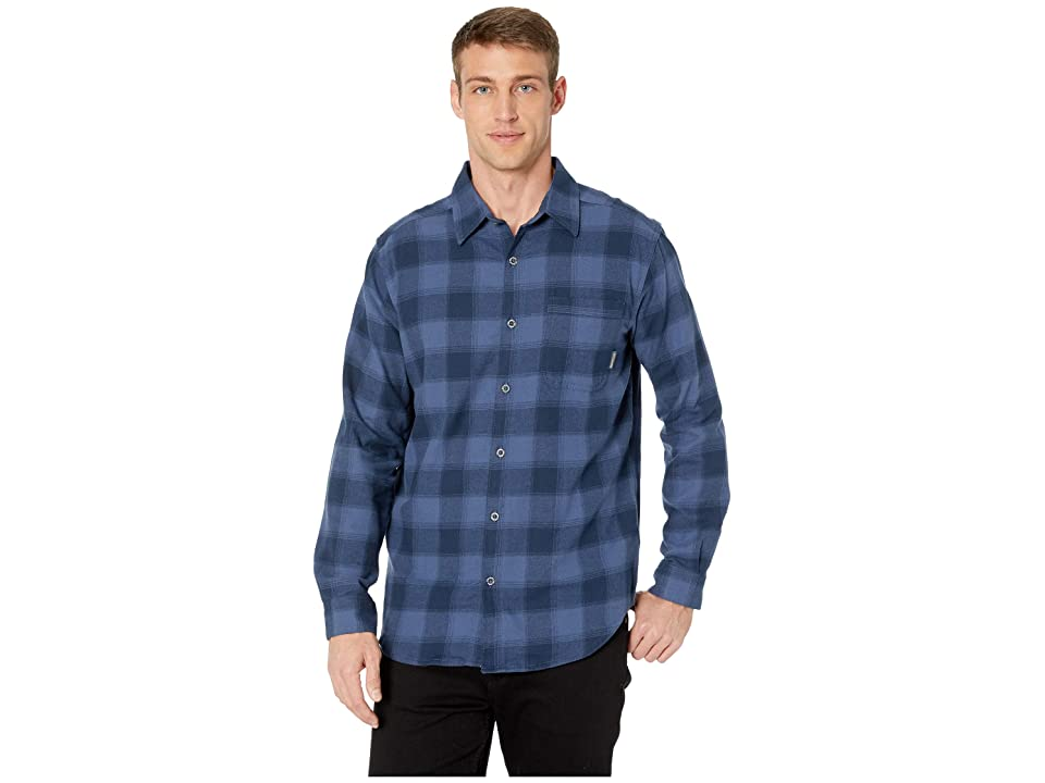 Columbia Boulder Ridge Long Sleeve Flannel (Dark Mountain Ombre) Men