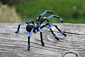Hand Blown Glass Tarantula, halloween, Blown Glass,Tarantula Spider Sculpture,Tarantula Spider Halloween