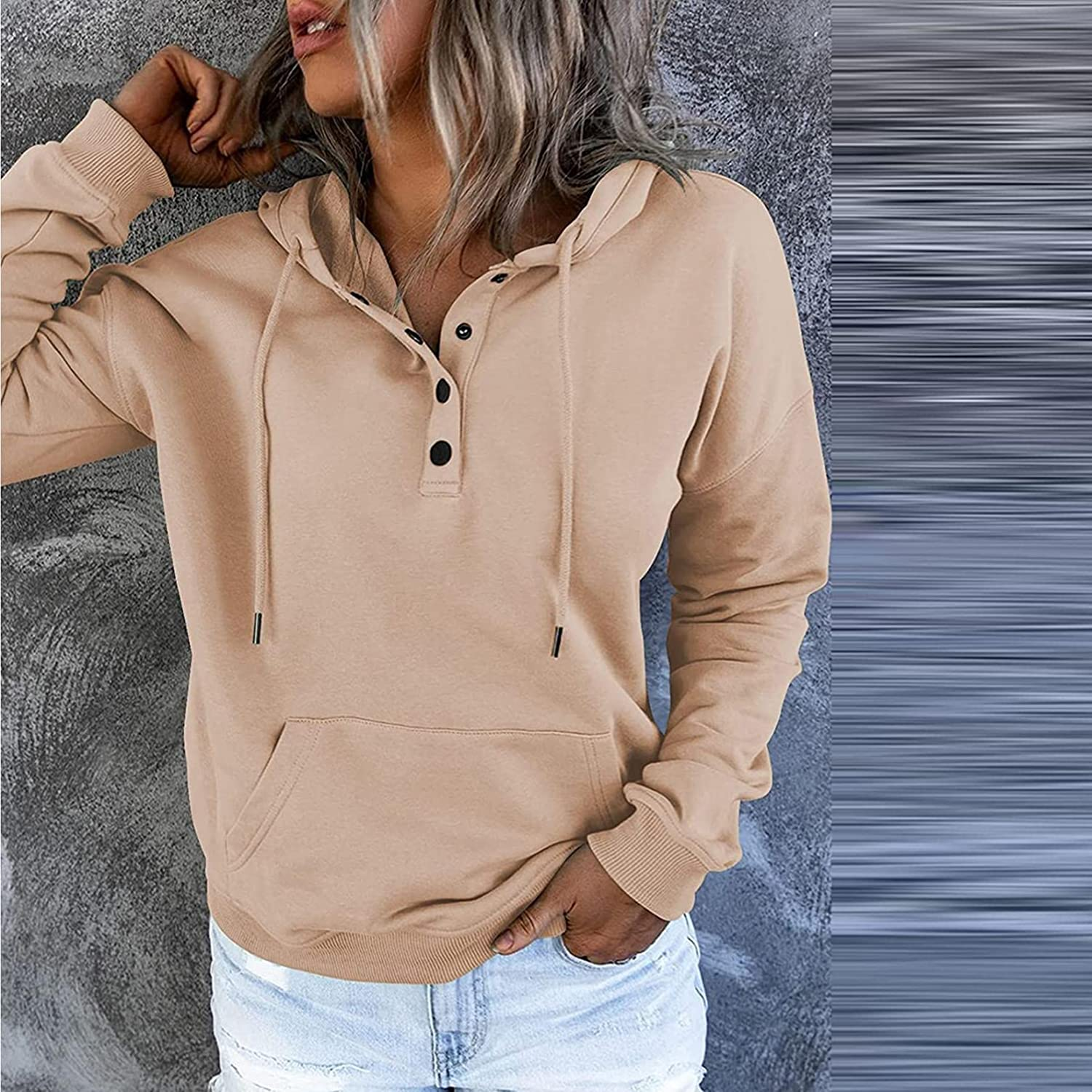 UOCUFY Hoodies for Women, Womens Casual Halloween Hoodie Sweatshirts Long Sleeve Pullover Hooded Tops with Pockets
