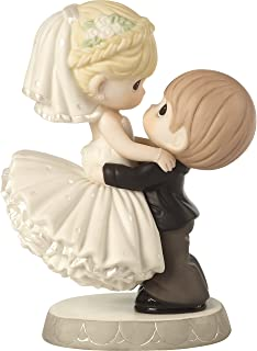 Precious Moments 172007 Best Day Ever Bride & Groom Bisque Porcelain Figurine & Wedding Cake Topper