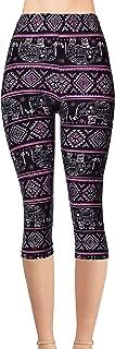 VIV Collection Print Brushed Ultra Soft Cropped Capri Leggings Regular and Plus List 3