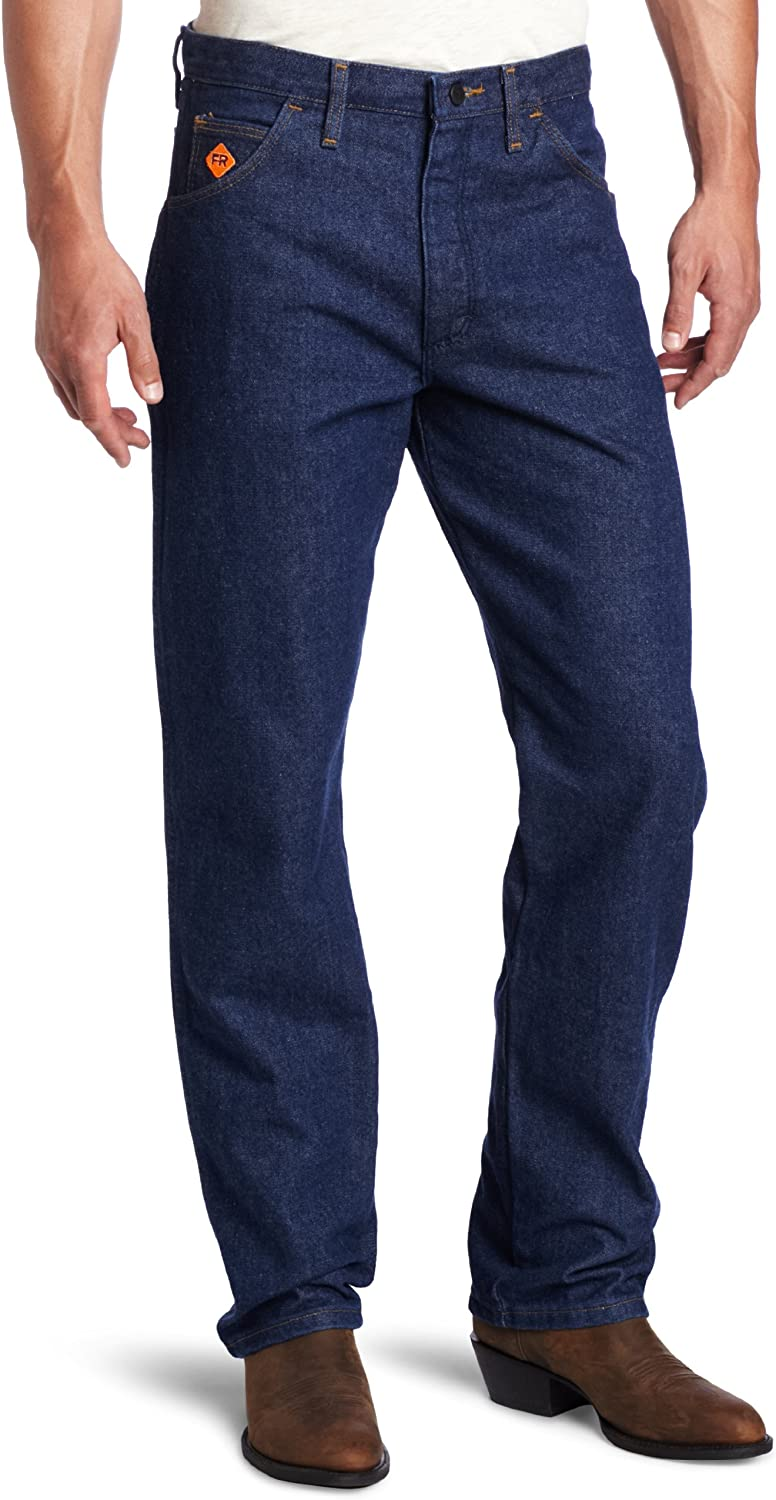 Wrangler mens FR Flame Resistant Relaxed Fit Jean