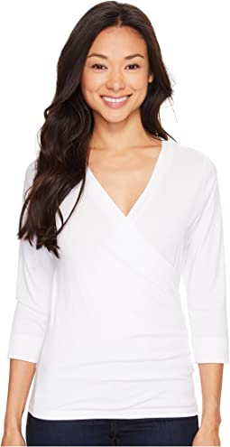 Pima Jersey 3/4 Sleeve Surplice Top