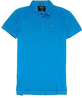 Hollister Men's Flex Pique Stretch Polo Shirt HOM-3
