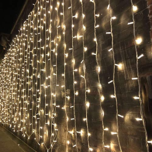 Magictec 300 LED Curtain String Light, 8 Lighting Modes Fairy Twinkle String Lights Wedding Party Home Garden Bedroom...