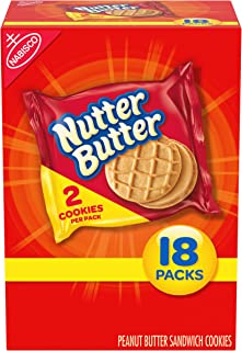 Nutter Butter Peanut Butter Sandwich Cookies, 18 Packs (2 Cookies Per Pack)