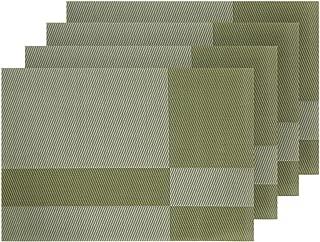 Deconovo Manteles Individuales de PVC Fácil de Limpiar Antimanchas Antideslizante, Salvamanteles Resistente al Agua para Mesa 45x30cm 4 Piezas Verde Oliva