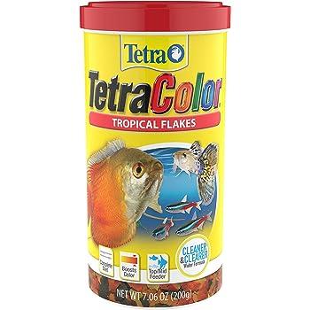 Tetra Tropical Color Flakes 7.06 Ounces, Clear Water Advanced Formula