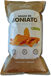 Alhajas de la Tierra | Chips de boniato | 12 bolsas de 100g