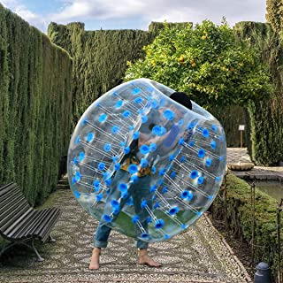Costzon Inflatable Bubble Ball, Dia 5ft (1.5m) Giant Human Hamster Bumper Soccer Ball, 8mm Thickness Transparent PVC Zorb Ball for Kids, Teens Outdoor Team Gaming Play