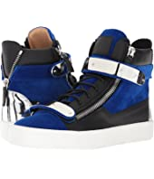 Giuseppe Zanotti - May London Flocked Hardware High Top Sneaker