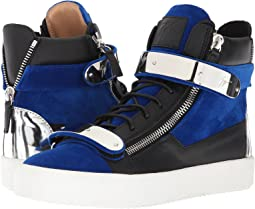 May London Flocked Hardware High Top Sneaker