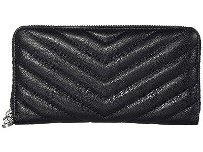 Rebecca Minkoff Edie Quilted Wallet (Black 1) Wallet Handbags