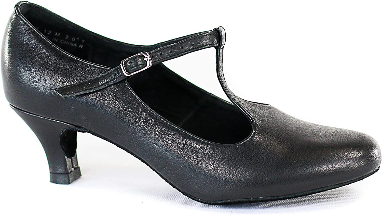 DiMichi Lena Leather Insole Heel 2 Inches Ballroom Shoes