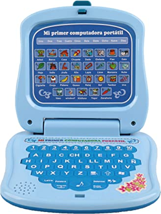 Pasaca Toys Kids Spanish Learning Laptop, My First Computer with 6 Learning Game, Touch