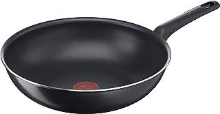 Tefal Wok Easy Cook & Clean B55519 - 28 cm - Revêtement anti-adhésif - Sûr - Signal thermique - Fond stable - Forme idéale...