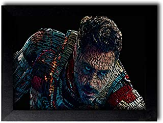 Blue Nexus Avenger Iron Man Digital Art Wall Poster with Wall Frame Wall Stickers Room Art Poster Painting (Get 25% Off on...
