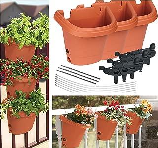 Bloem Hanging Garden Planter System 3 Pack, Terra Cotta (482121-1001)