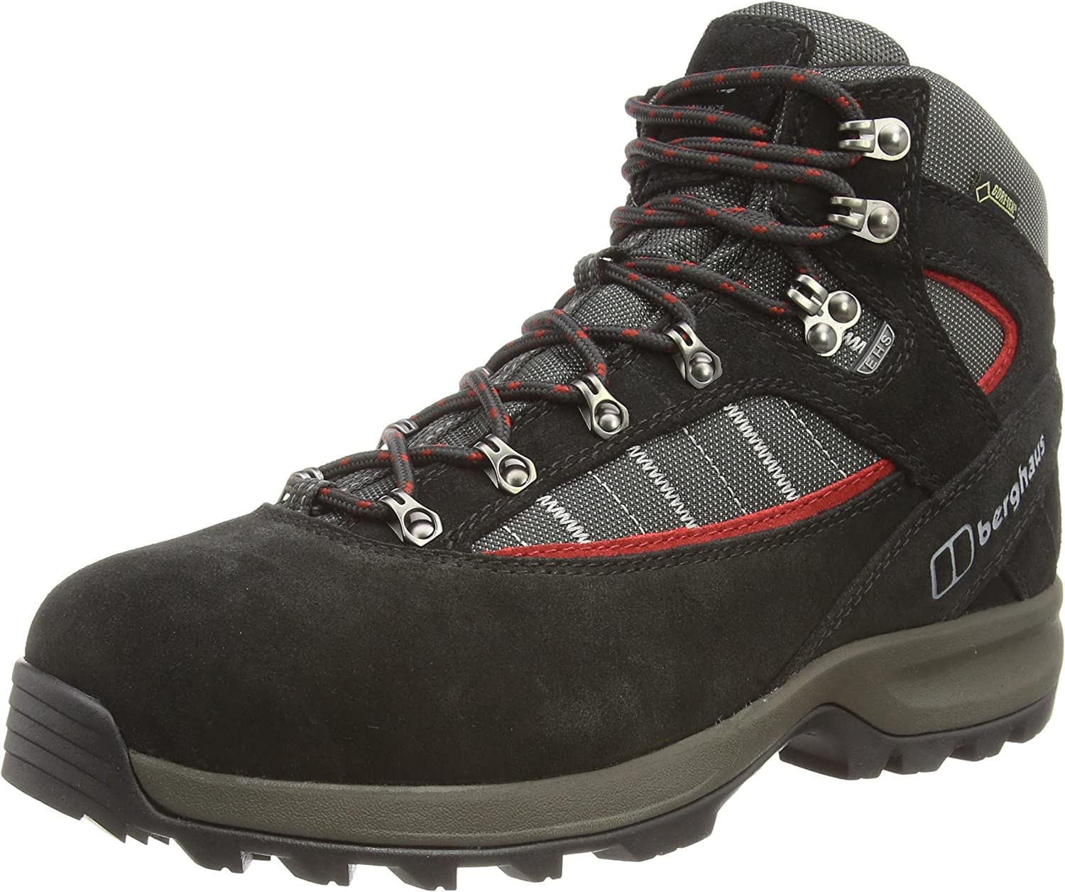 Berghaus Men's Explorer Trek Walking Boot, Black, US8.5