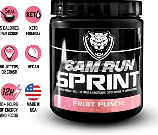 6AM Run: Pre Run Sprint (Amino Energy Fruit Punch 30 Scoops) Best Pre Workout Supplement for Running - Pre Workout Runners - Sprint Run - Pre Run Energy - Pre Workout for Runners - Pre Preworkout