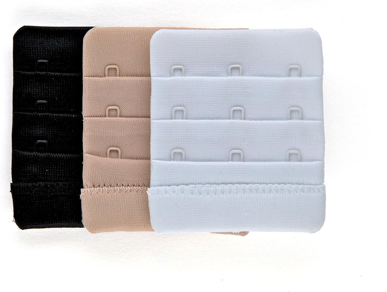 Black Bra Buckle Extender Bra Extension Underwear Strap Widen 11-18 Hooks