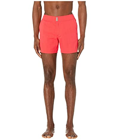 Vilebrequin Minise Jacquard Unis Stretch Swim Trunks (Red Medicis) Men