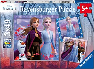 Ravensburger 05011 Disney Frozen 2 - The Journey Starts - 3 X 49 Piece Jigsaw Puzzles for Kids - Value Set of 3 Puzzles in a Box - Every Piece is Unique - Pieces Fit Together Perfectly
