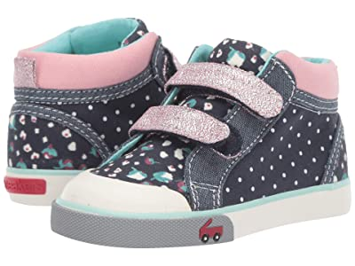 See Kai Run Kids Kya (Toddler/Little Kid) (Navy Dot Mix) Girl