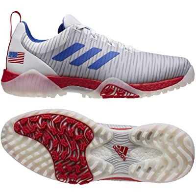 adidas Golf Codechaos Nations (Footwear White/Team Royal Blue/Scarlet) Men