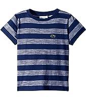Short Sleeve Striped Jersey T-Shirt (Toddler/Little Kids/Big Kids)