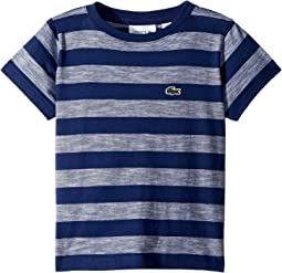 Lacoste Kids - Short Sleeve Striped Jersey T-Shirt (Toddler/Little Kids/Big Kids)