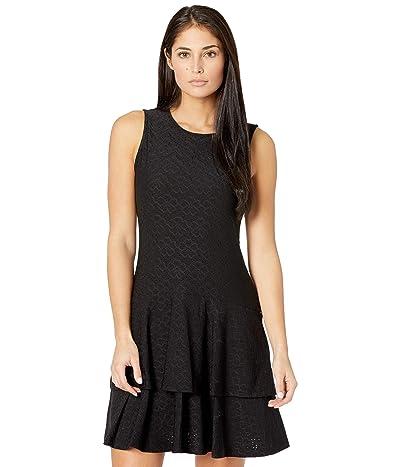 MICHAEL Michael Kors Petite Flora Jacquard Sleeveless Dress (Black) Women