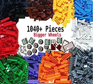 dreambuilderToy Building Bricks 1040 Pieces Set, 1000 Basic Building Blocks in 10 Popular Colors,40 Bonus Fun Shapes Includes Wheels, Doors, Windows, Compatible to All Major Brands