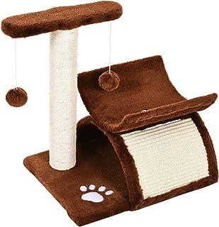 PawHutRascador para Gatos Árbol Rascador con Bolas de Juego