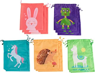3 Designs 48-Pack Plastic Treat Bags Goody Bags for Kids 13.6 x 9.8 Inches Juvale Halloween Party Supplies Party Gift Bags Party Favor Bags