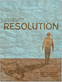 Resolution An Element of a Novel. Educational Classroom Poster featuring The Grapes of Wrath by John Steinbeck. Fine Art Paper, Laminated, or Framed. Multiple Sizes Available