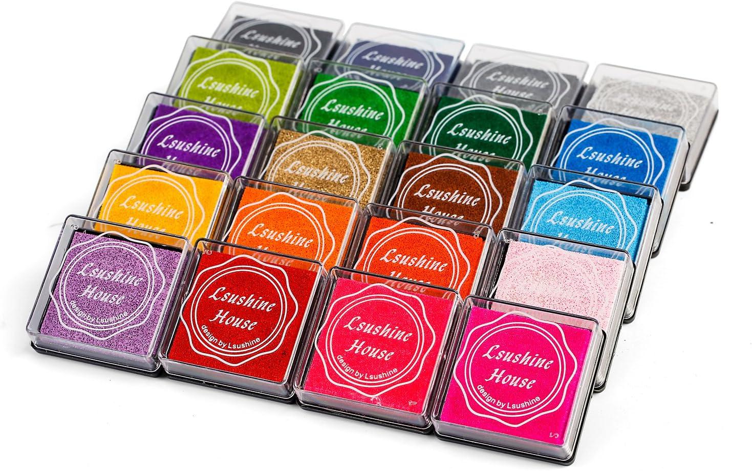 Lsushine Craft Ink Pad Sale Manufacturer regenerated product Stamps Partner Color Rainbo DIY Colors 20