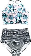 CUPSHE Women's High Waisted Bikini Set Tankini Swimwear