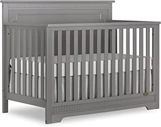 Dream On Me Morgan 5-in-1 Convertible Crib in Storm Grey, Greenguard Gold Certified