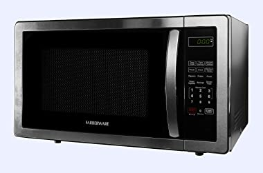 Farberware 1.1 Cu. Ft. Stainless Steel Countertop Microwave Oven with 6 Cooking Programs, LED Lighting, 1000 Watts