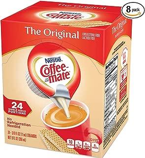 Nestle Coffee-mate Coffee Creamer, Original, liquid creamer singles, 24 Count (Pack of 8)
