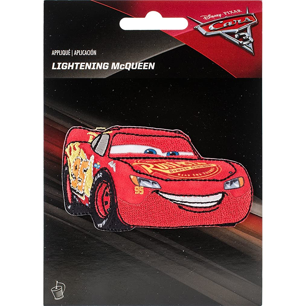 Wrights 193 1147 Disney Cars Iron-On Applique, Lightning McQueen