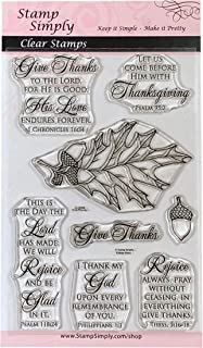 Stamp Simply Clear Stamps Thanksgiving Give Thanks Christian Religious 4x6 Inch Sheet - 8 Pieces