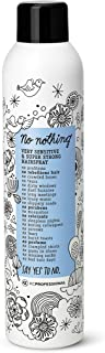 No nothing Very Sensitive Super Strong Hairspray - Fragrance Free Extra Strong Styling and Finishing Spray - Unscented Hai...