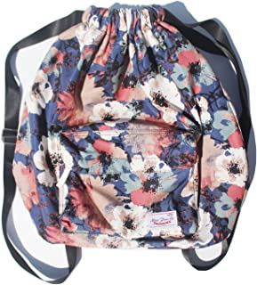 a6984115df7e Dry Wet Separated Swimming Bag Floral Waterproof Drawstring Backpack Pool  Beach Travel Gym Bag