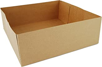 Southern Champion Tray 0121 Kraft Paperboard 4 Corner Pop Up Food and Drink Stadium Tray, 10-1/2