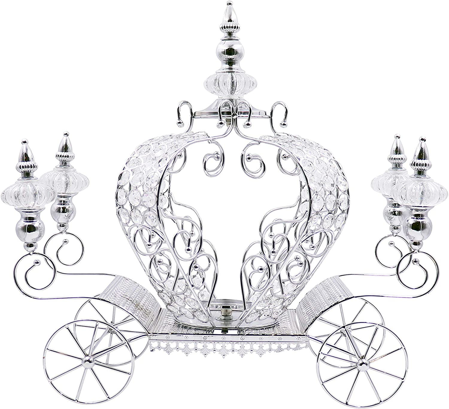 JOICE GIFT Crystal Studded Bling Max 58% OFF Pumpkin Holder Max 45% OFF Candle Carriage